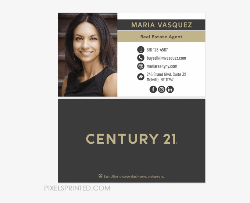 New Century 21 Logo Cards Century 21 Business Cards Century 21