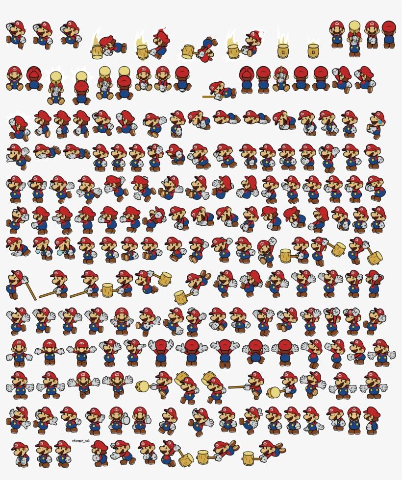 The Vg Resource Paper Mario Color Splash Sprites Textures Paper