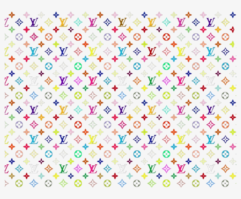 Louis Vuitton Print 1 Colorful Louis Vuitton Print Transparent Png