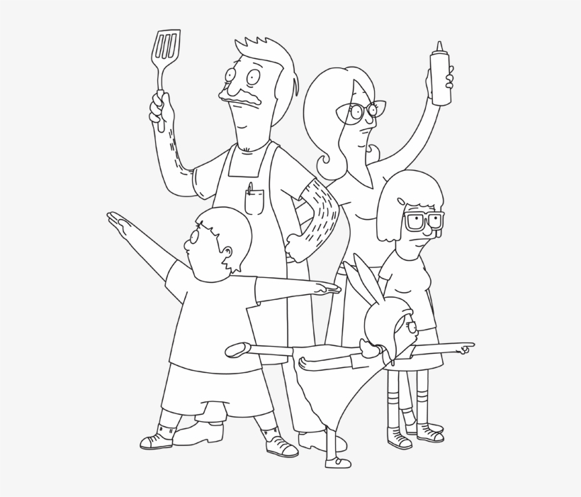 Bobs Burgers Coloring Pages Bob S Burgers Printable Coloring Pages