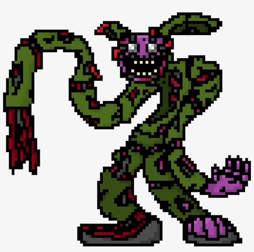 Artworkstylised Springtrap Pixel Art Fnaf Pixel Art