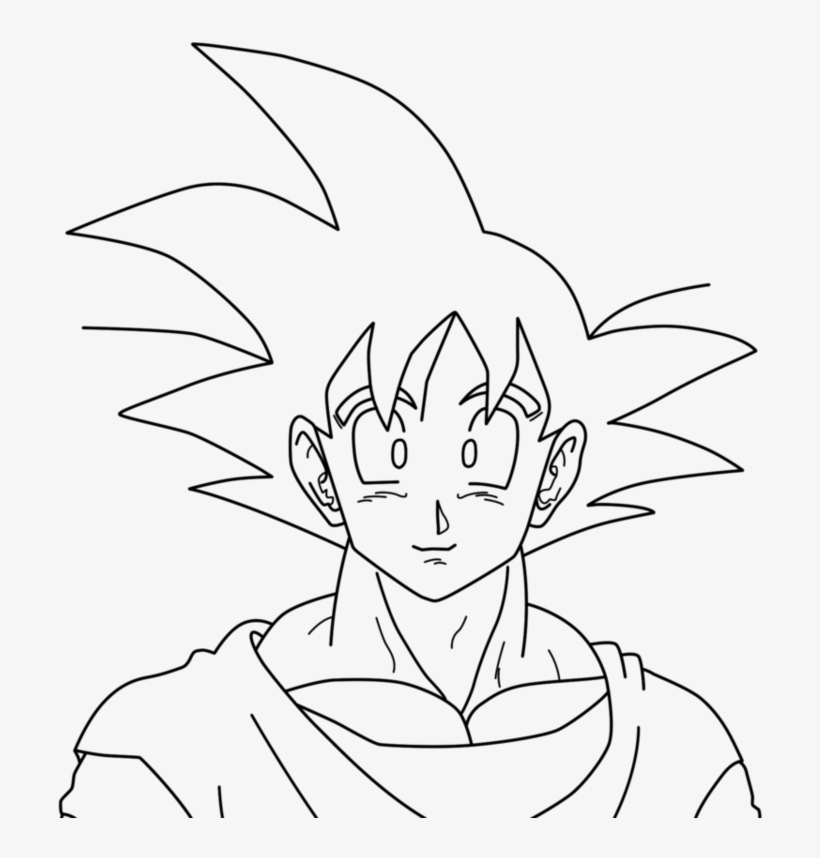 Picture Library Stock Drawing Kid Goku Coloriage Goku Transparent Png 961x832 Free Download On Nicepng