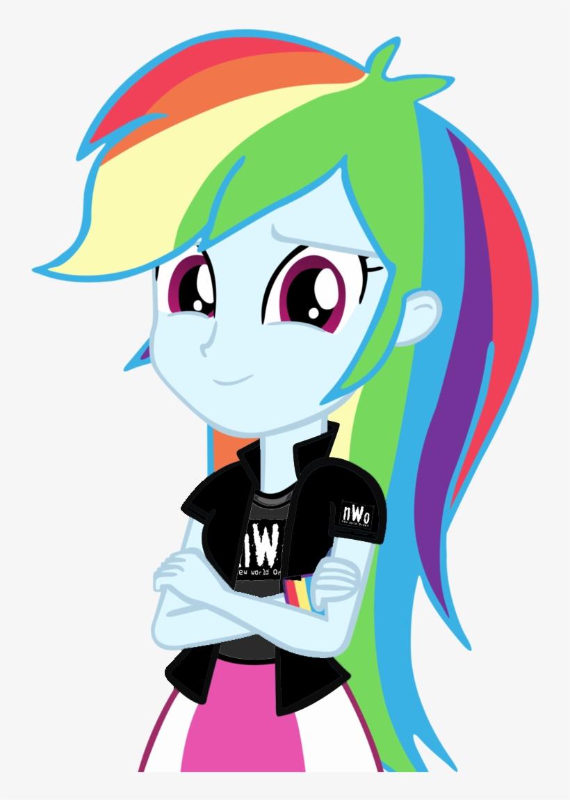 - Digiradiance, Crossover, Equestria Girls, New World - Rainbow Dash