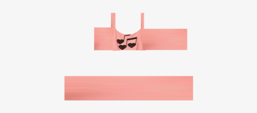 137cb367f1ca68 Pink Heart Music Note Crop Top - Roblox Crop Top T Shirt Transparent ...