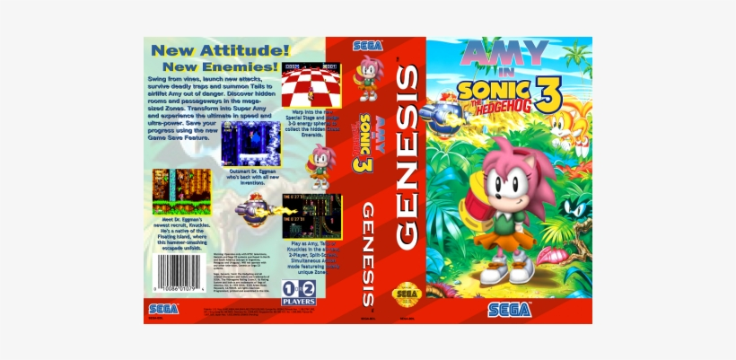 Sonic The Hedgehog 3 Sega Genesis Gen Transparent Png 500x500 Free Download On Nicepng