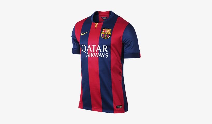 Fc Barcelona Home Kit - Barca Kit 2014 15 Transparent PNG - 400x400