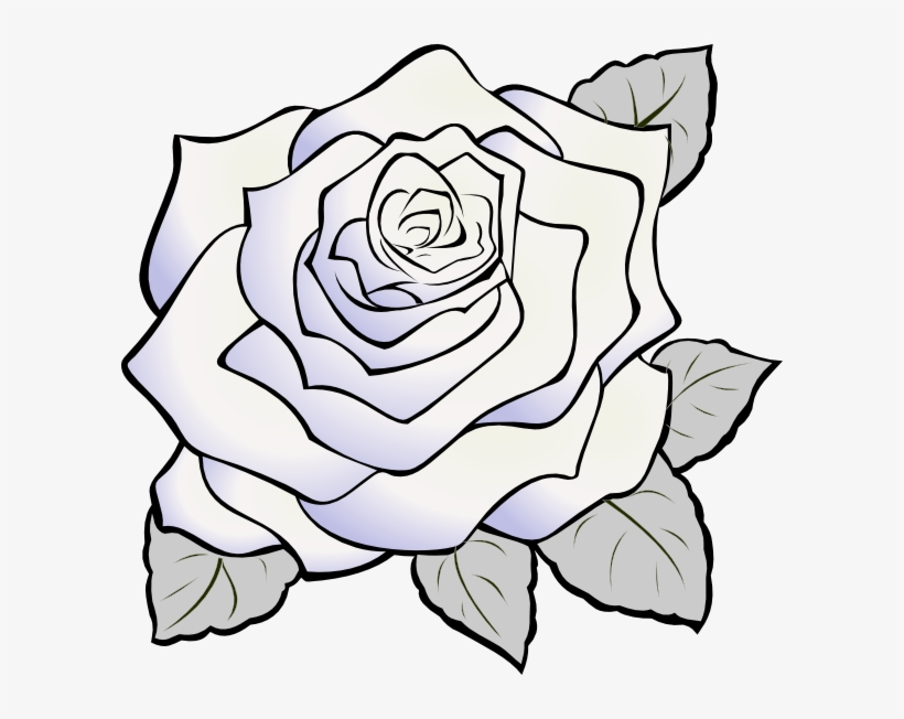 White Rose Gray Clip Art White Rose Clip Art Transparent Png