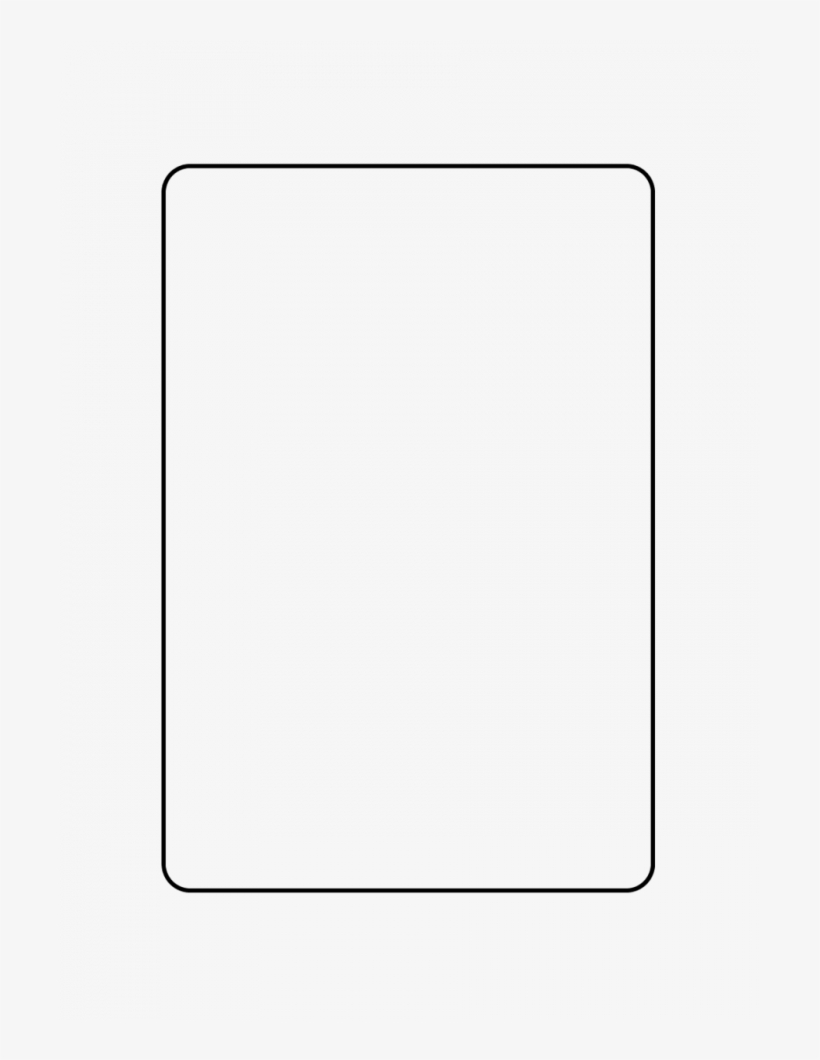 Card Template Simple Cruzrich - Parallel Transparent PNG - 24x24 Inside Free Printable Playing Cards Template