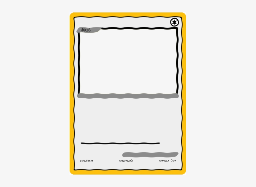 Magnificent Blank Pokemon Card Template Elaboration Blank Pokemon