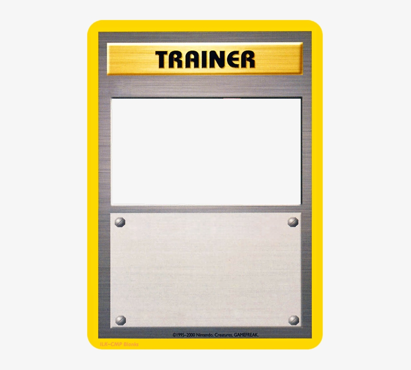 Blank Pokemon Card Template Pokemon Old Trainer Cards Transparent