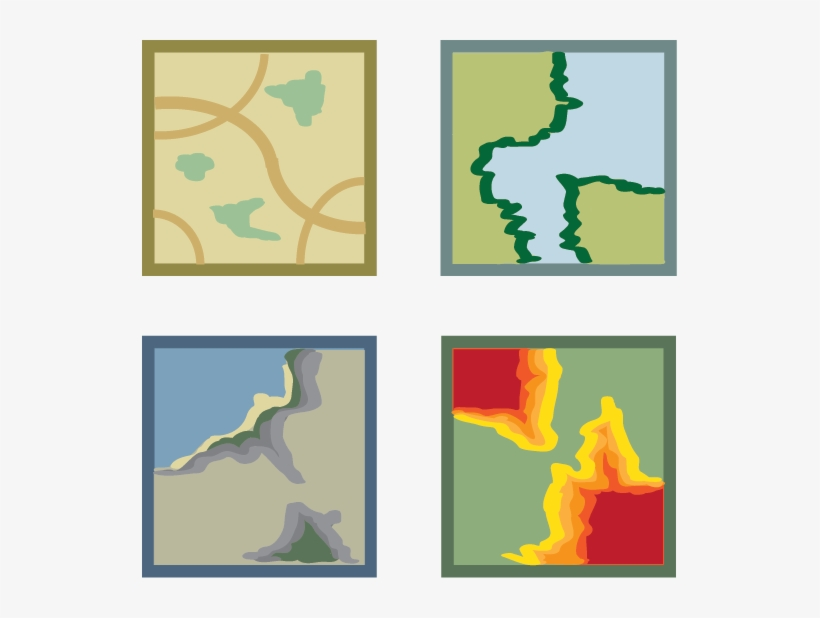 Basemap - Gis Map Icon Transparent PNG - 535x538 - Free