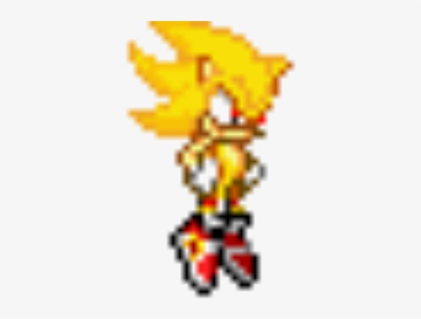 Super Sanikku - Sonic Advance Super Sonic Sprite Transparent