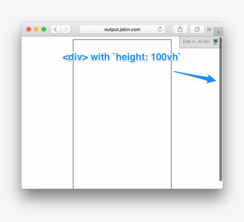 Yeah, Scroll Bars Are Totally Fine To Include In `vw` - Ios