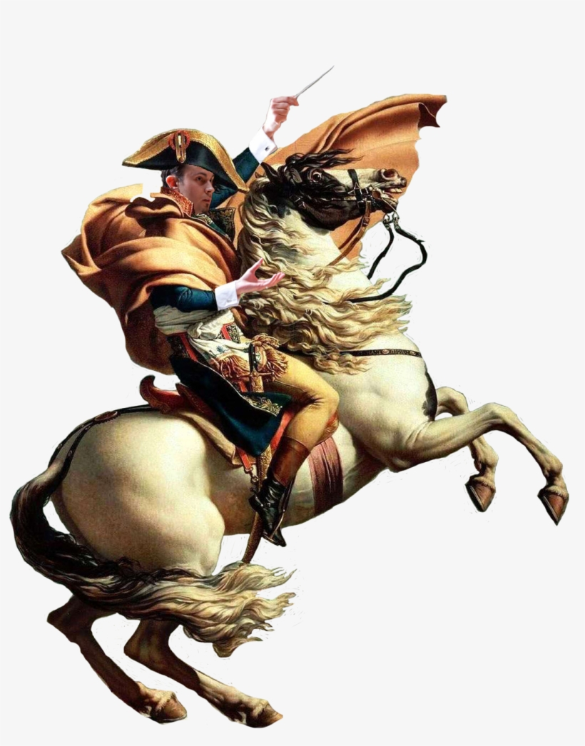 Personnapoleon On A Horse Pointing With A Stick Napoleon Horse White Background Transparent Png 1169x1371 Free Download On Nicepng