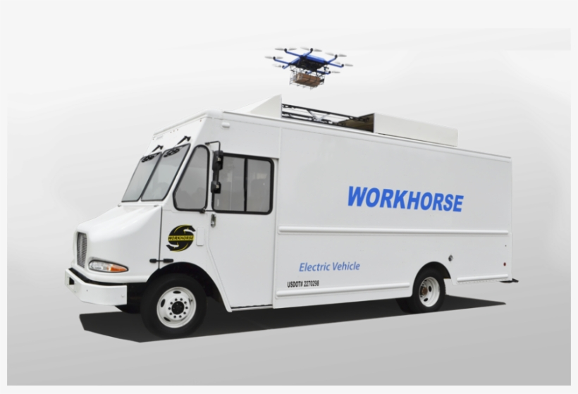 Usps Truck Png - Post Office Truck Concept Transparent PNG