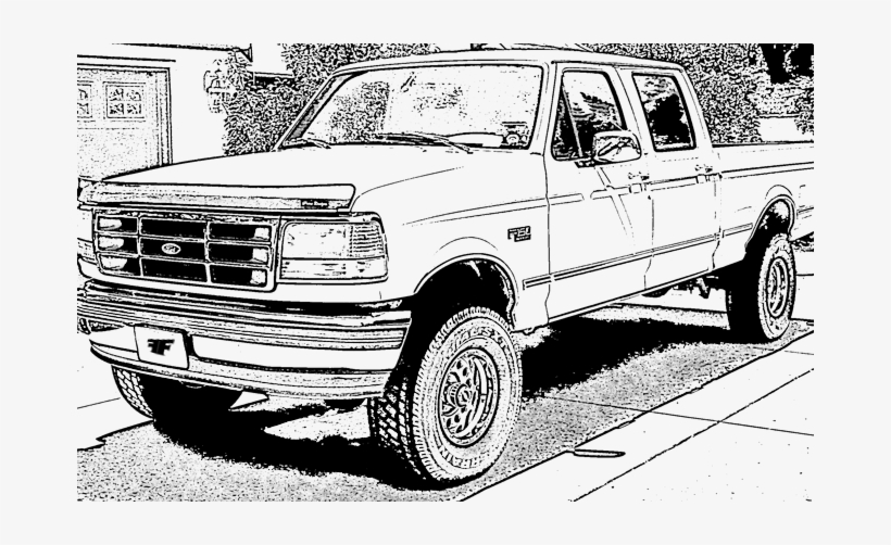 Ford F150 Coloring Page Ford Pickup Truck For Coloring Transparent