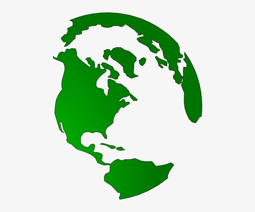 Globe Silhouette At Getdrawings Green Earth Vector Png Transparent