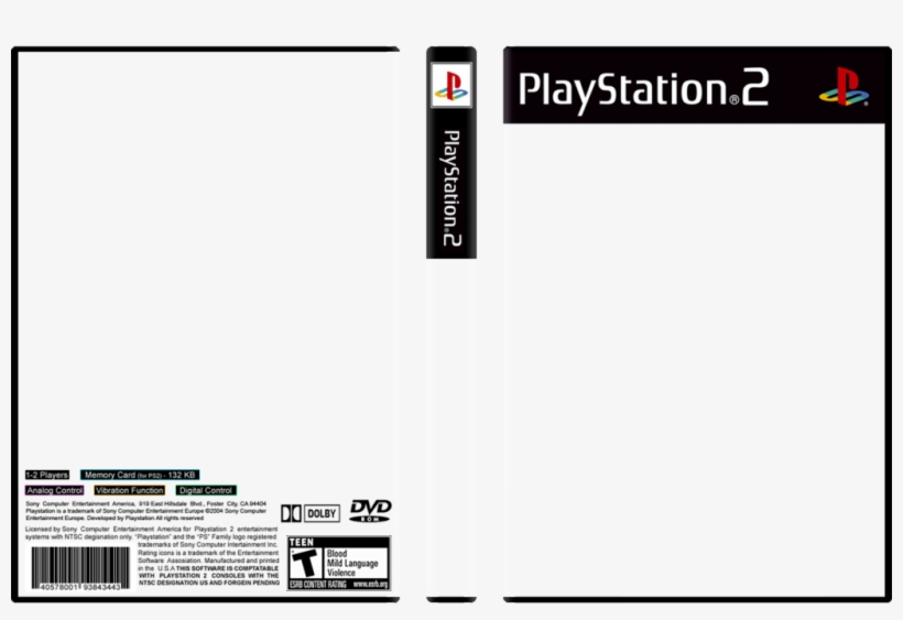 Ps3 Spine Png Vector Free Download - Ps2 Games Cover