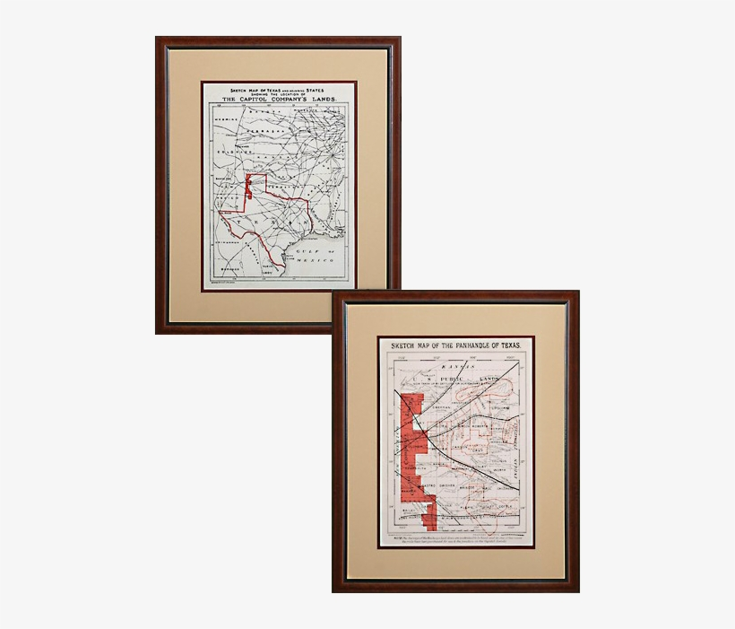 Map Of Xit Ranch Texas.Antique Replica Maps Of The X Xit Ranch Transparent Png 474x621