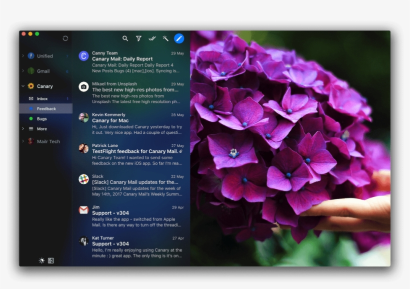 Mail Apps For Mac - Canary Mail Transparent PNG - 1024x640 - Free