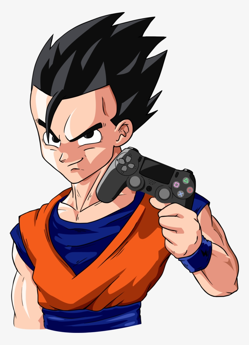 Ultimate Gohan Holding Ps Controller By Blastycone Gohan Fortnite