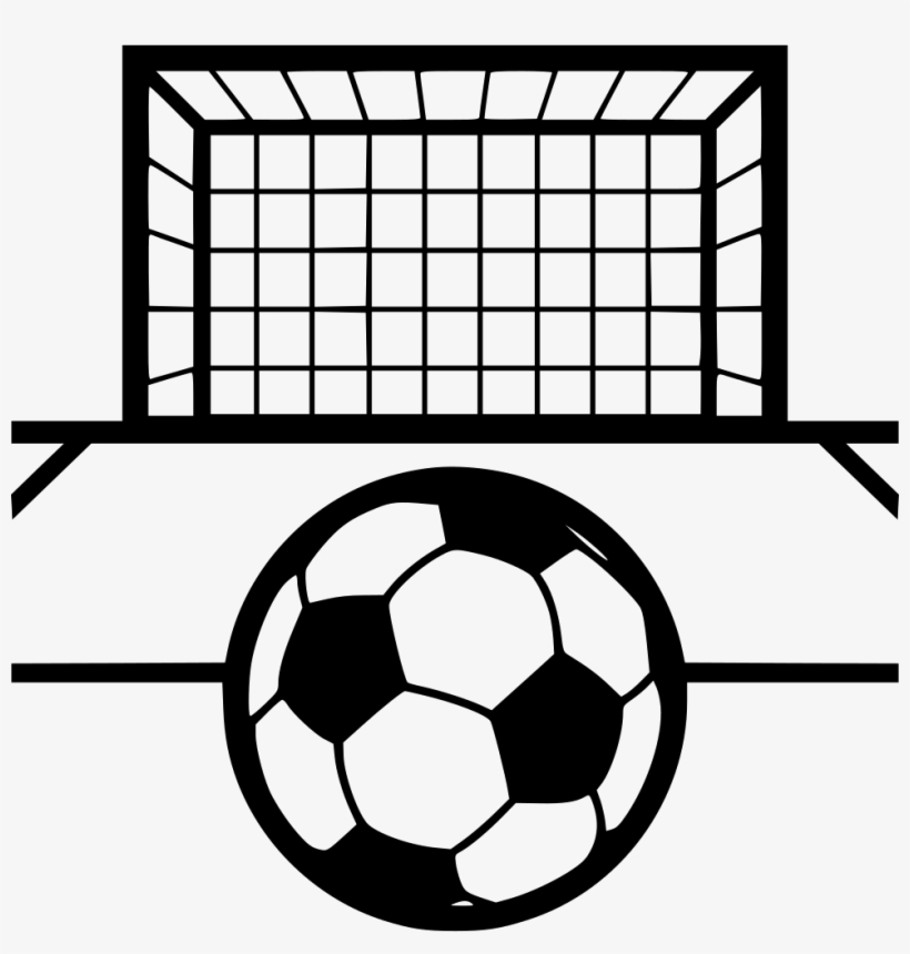 Soccer Goal Vector - Black And White Soccer Goal Clipart