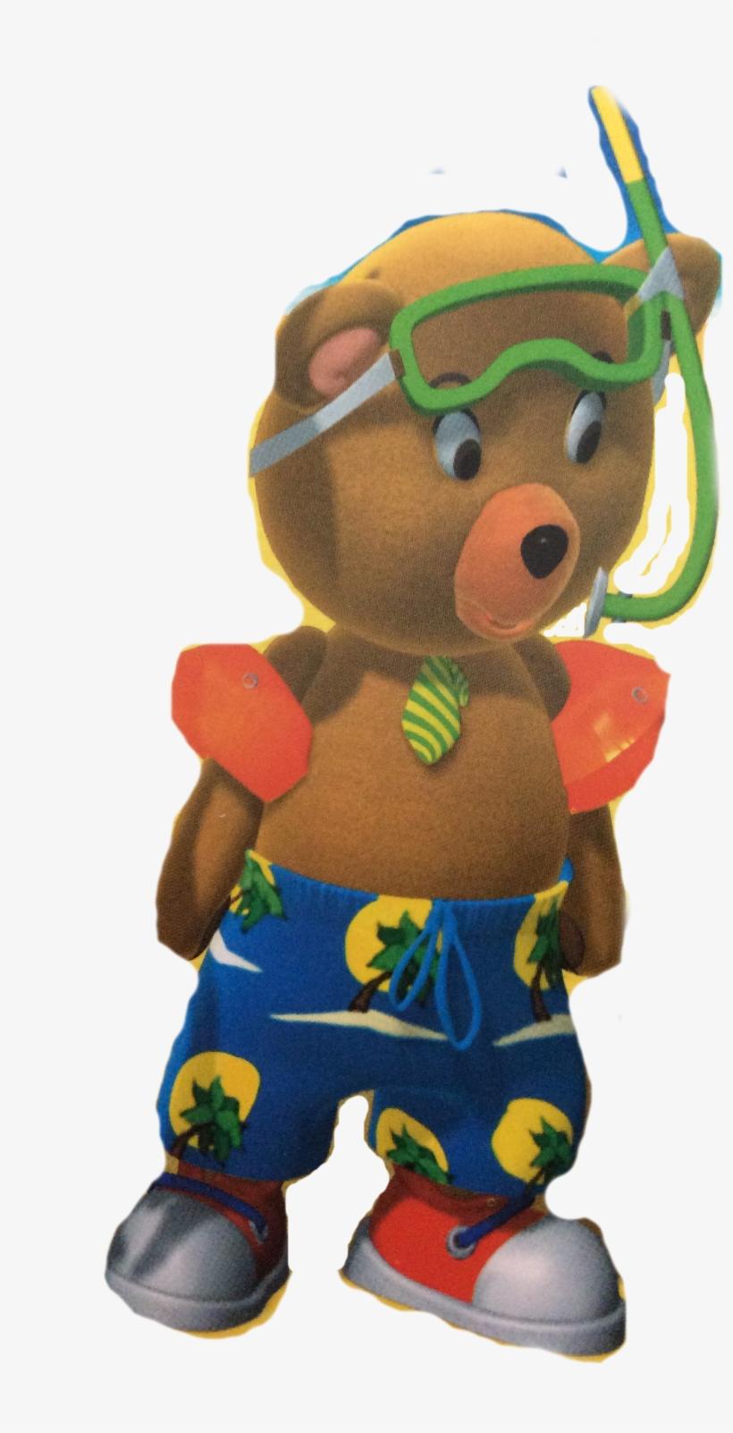 Master Tubby Bear Beach - Stuffed Toy@nicepng.com