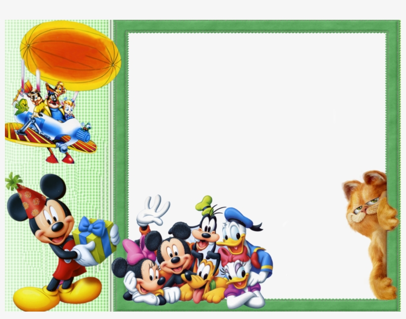 Mickey Mouse Clipart Frame Frames Png Mickey Mouse Transparent Png