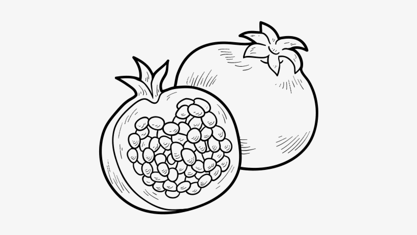 Pomegranate Drawing At Getdrawings - Colouring Pictures Of Pomegranate  Transparent PNG - 600x470 - Free Download On NicePNG