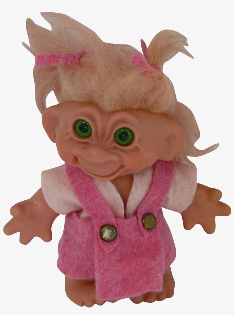 Vintage Thomas Dam Troll Doll With Rare Green Eyes - Troll Doll Transparent
