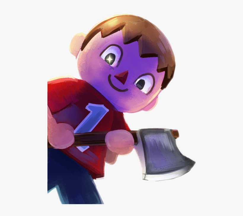 New Leaf Super Smash Bros Villager Animal Crossing Axe
