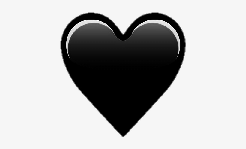 Black Heart Emoji Png Transparent Png 418x416 Free Download On