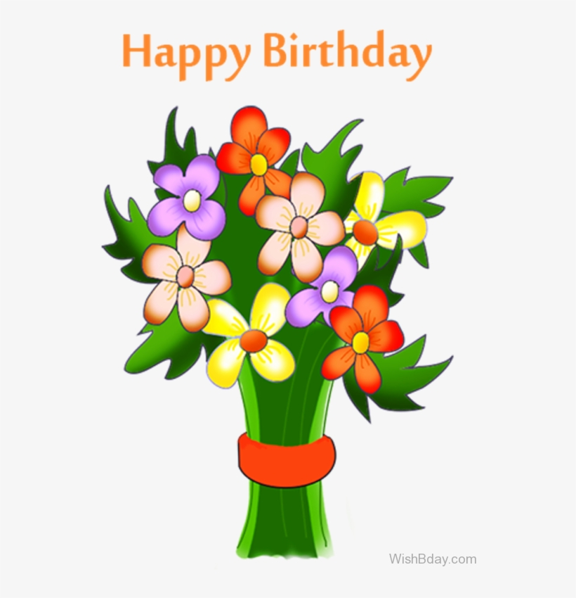 64 Birthday Wishes With Bouquet Vector Transparent