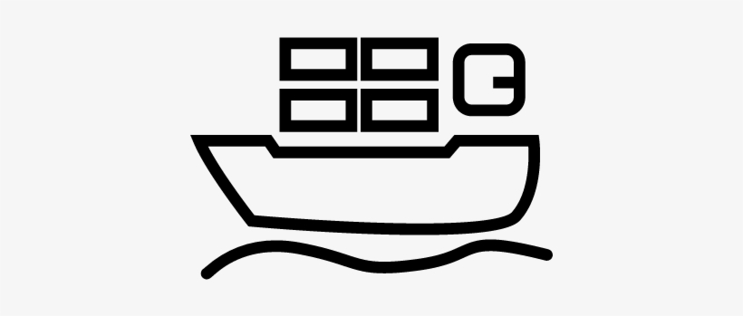 cargo ship with containers travelling by the sea vector icon kapal laut png transparent png 400x400 free download on nicepng icon kapal laut png transparent png