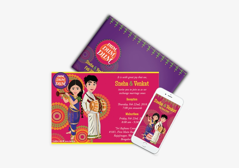 Wedding Invitations Design Creative Indian Wedding Card Transparent Png 500x494 Free Download On Nicepng