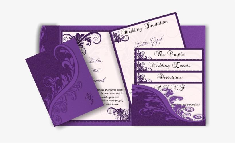 Best Indian Wedding Invitation Cards Designs Yaseen Purple