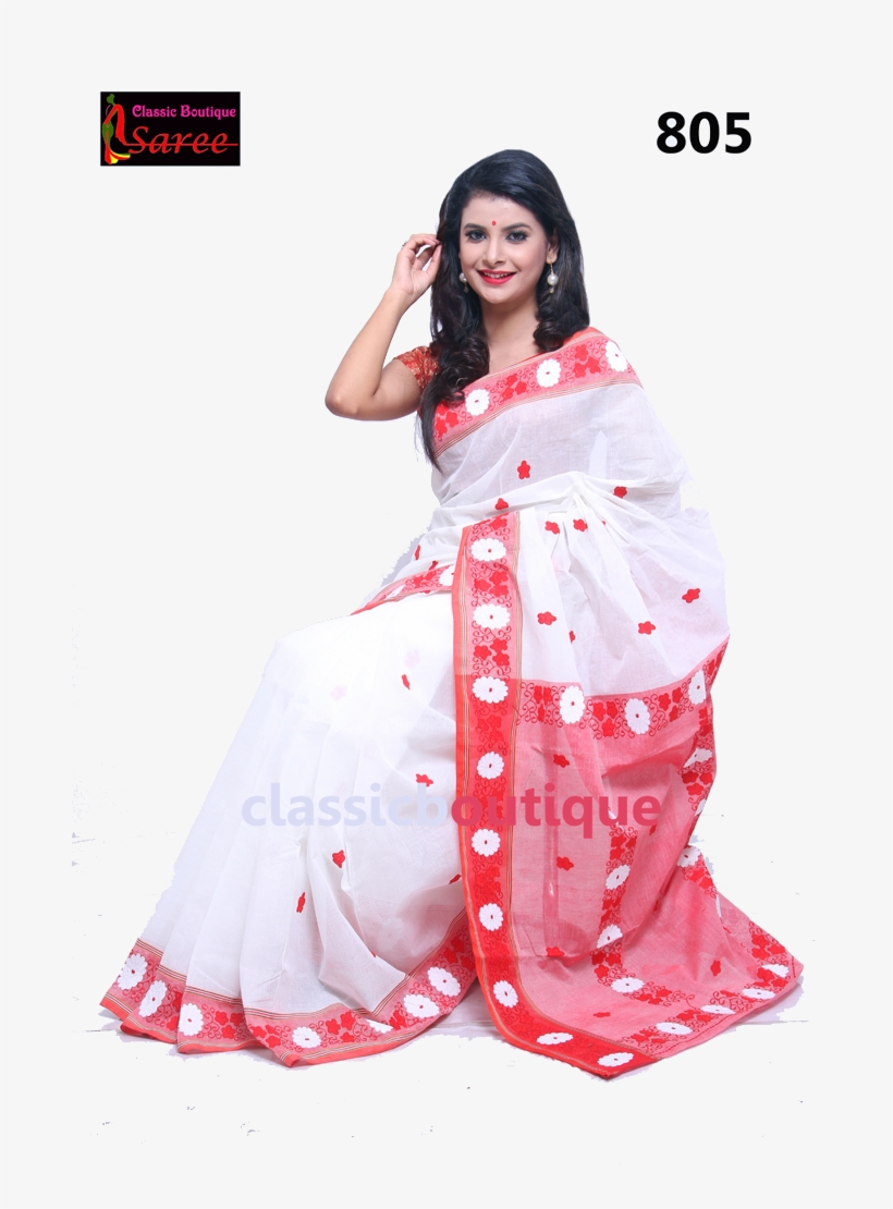 3630fa14f9 Please Upgrade To Full Version Of Magic Zoom Plus™ - White   Red Tant Saree