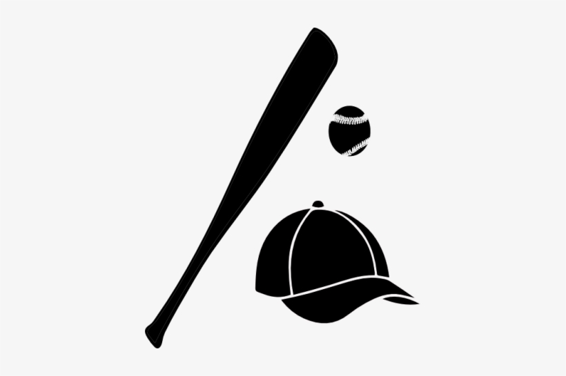 Vector Free Bat And Ball Clipart Baseball Bat Silhouette Png Transparent Png 400x465 Free Download On Nicepng