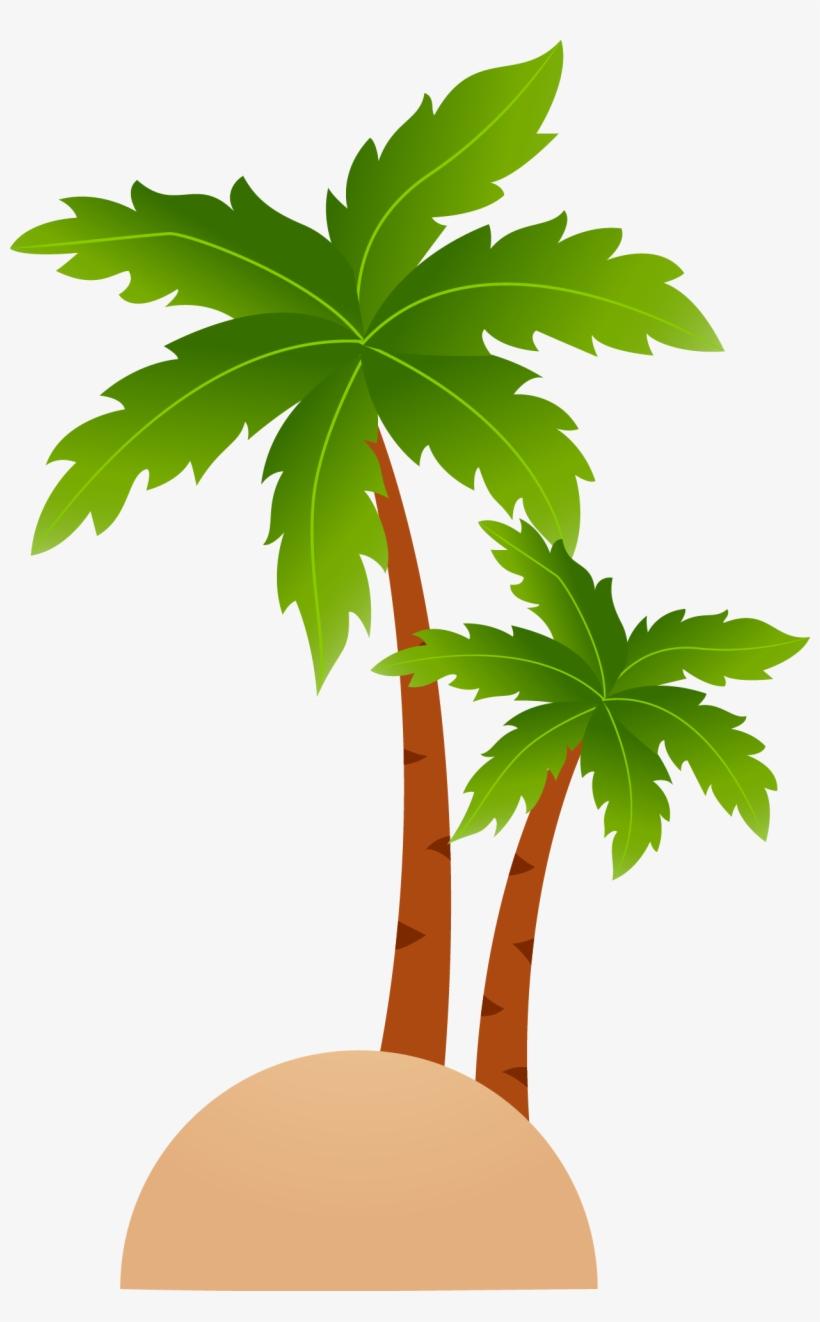 Tropical Islands Resort Cartoon Clip Art Clipart Leaf Coconut Tree
