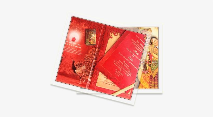 Hindu Wedding Cards Christmas Card Transparent Png 445x372