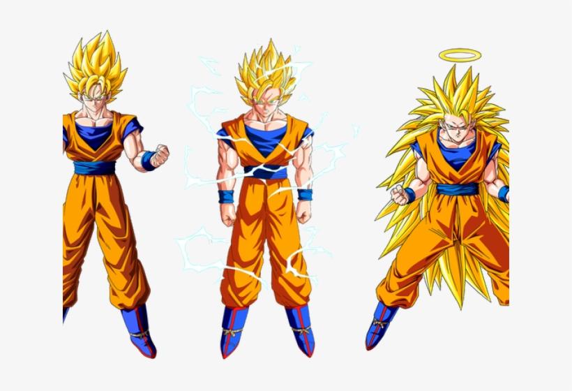 Goku Clipart Super Saiyan God Goku Ssj 1 And 2 Transparent