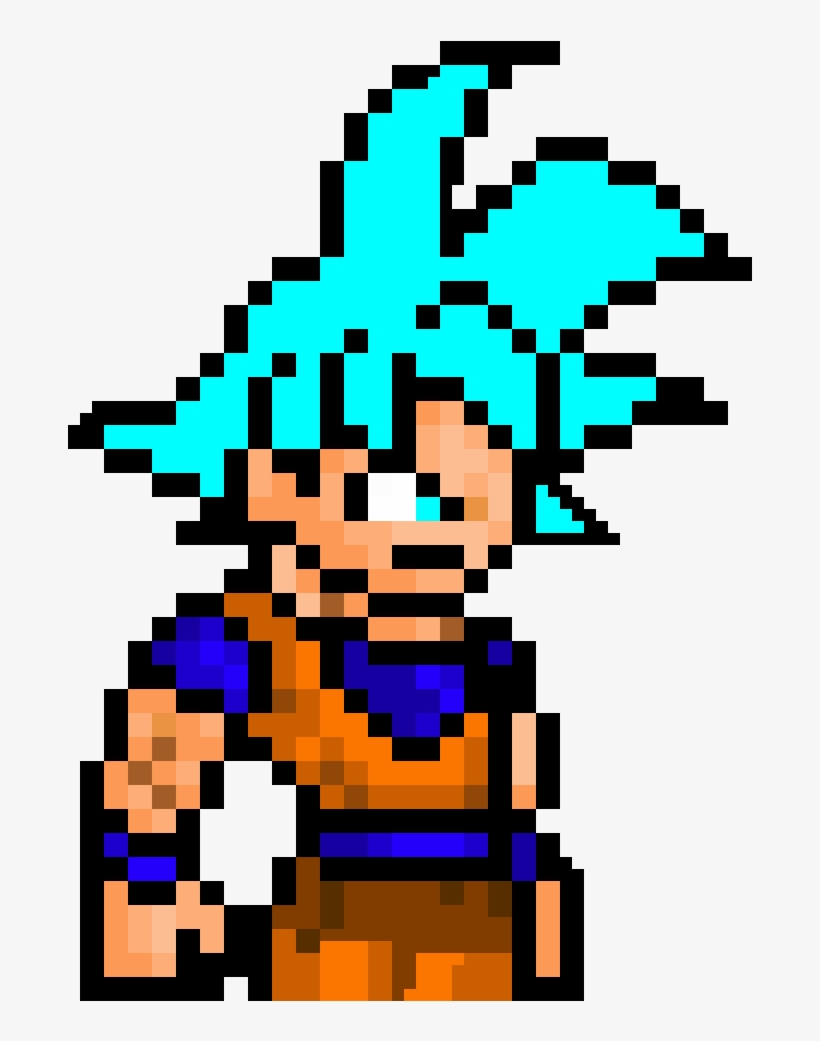 Super Saiyan God Blue Goku Ultra Instinct Mastered Pixel