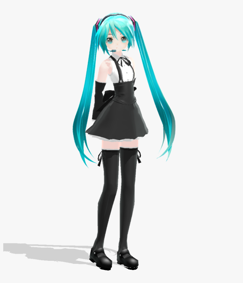 Maid Api Miku [dl] By Jangsoyoung On Clipart Library - Mmd Maid Miku