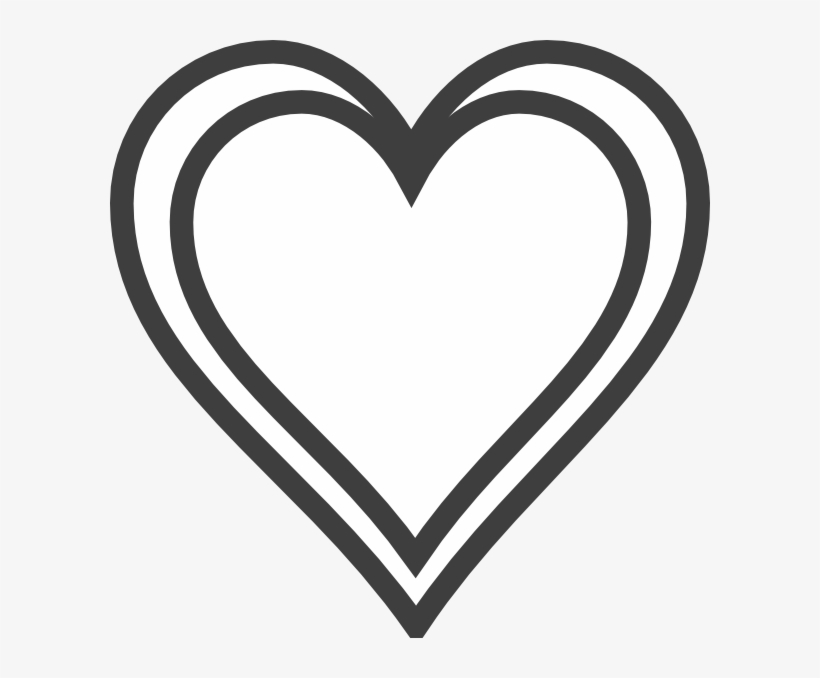Black Heart Outline Png Double Heart Outline Clipart Transparent Png 600x598 Free Download On Nicepng Large collections of hd transparent heart outline png images for free download. black heart outline png double heart