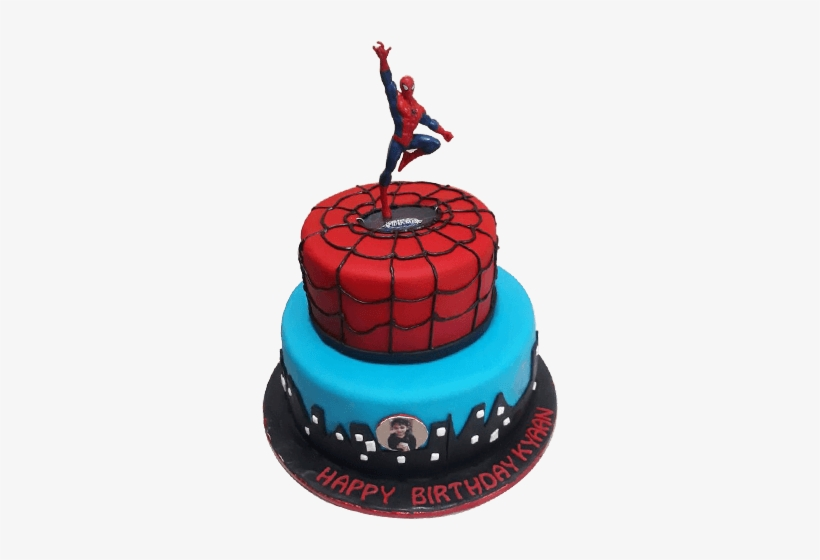 Brilliant Spiderman Birthday Cake Made With Fondant Spiderman Cake Png Birthday Cards Printable Nowaargucafe Filternl