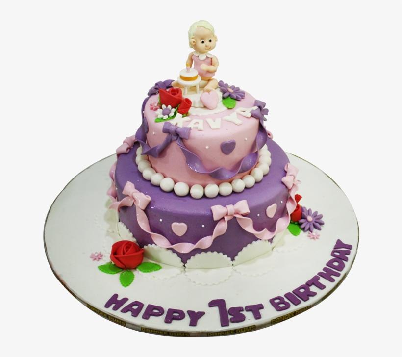 1st Birthday Cake Cake Decorating Transparent Png 1000x700