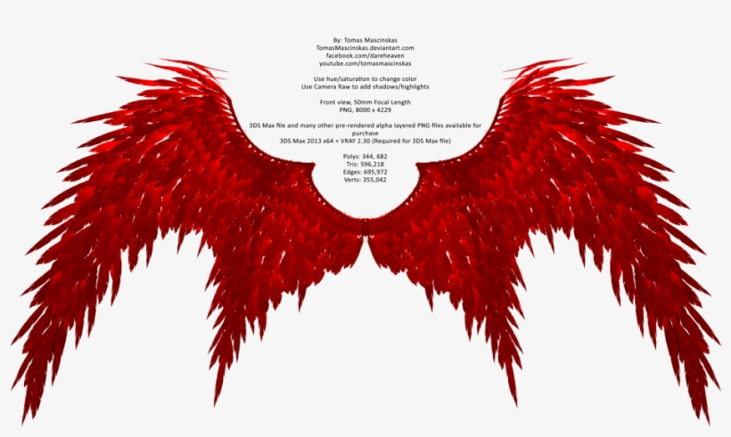 Demonic Wings Clipart Png Red Devil Wings Png Transparent Png