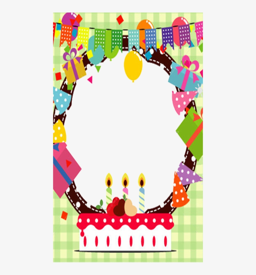 Happy Birthday Circle Frame Png Transparent Png 480x800 Free