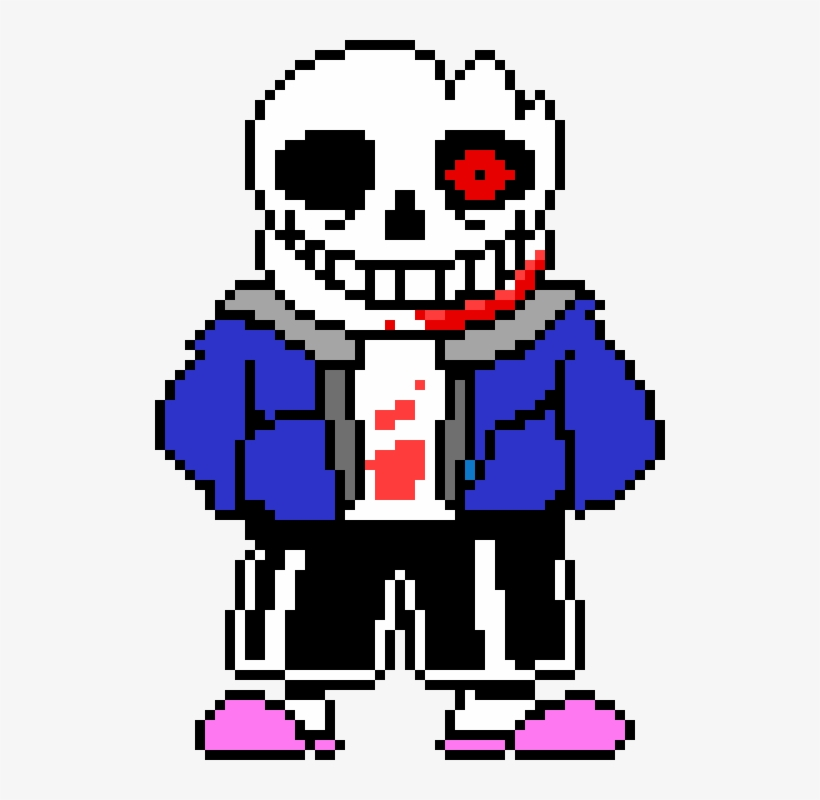 Horrortale Sans Battle - Sans Sprite Transparent PNG - 510x720