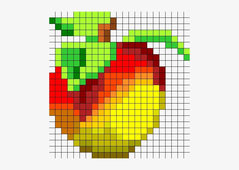 Crash Bandicoot Wumpa Fruit Bead Pattern Wumpa Fruit Pixel
